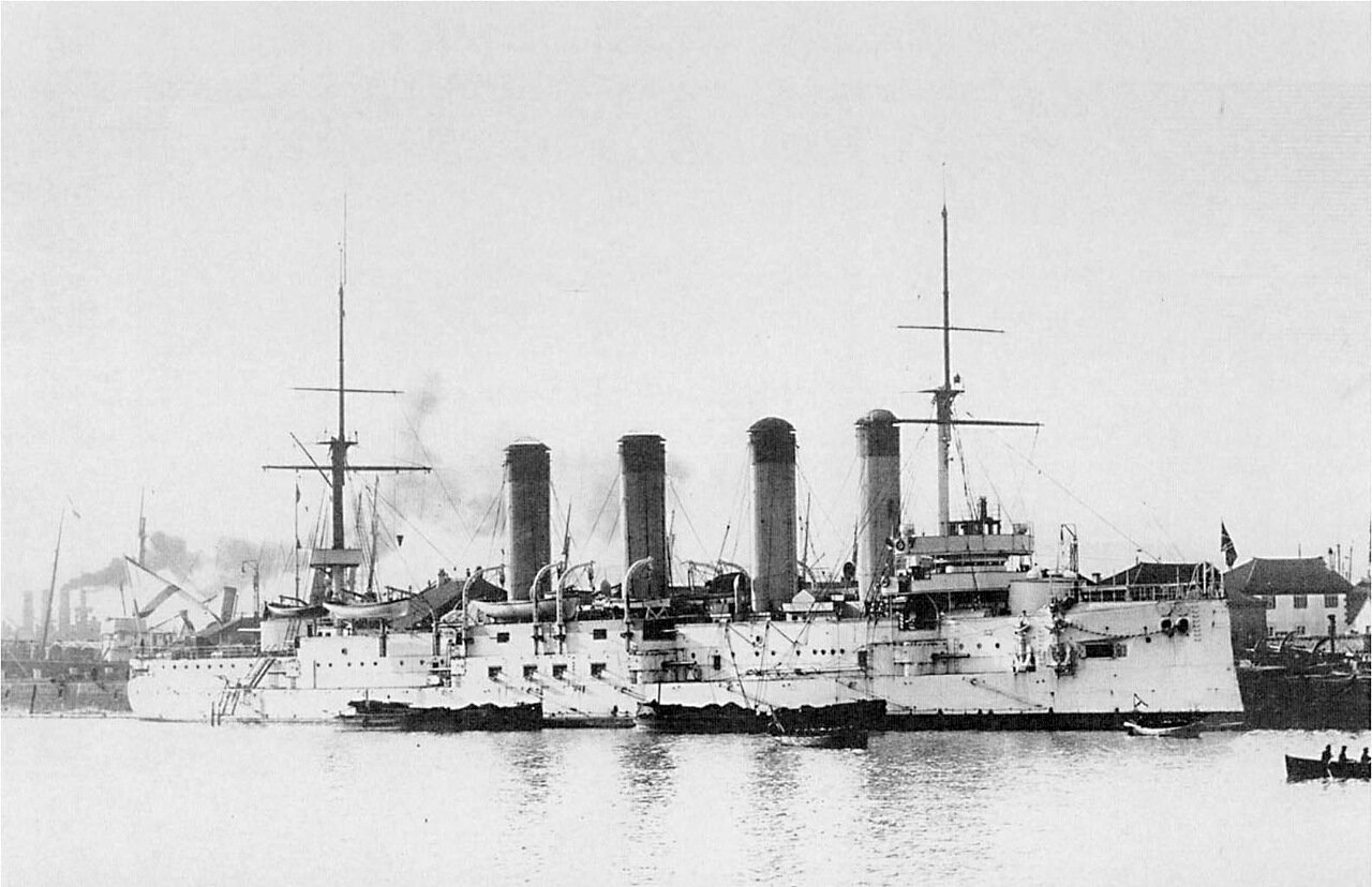 Броненосный крейсер 'Баян' после прибытия в Порт-Артур 29 ноября 1903 г.