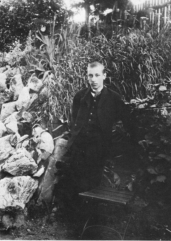 Igor Stravinsky in his youth, 1897.