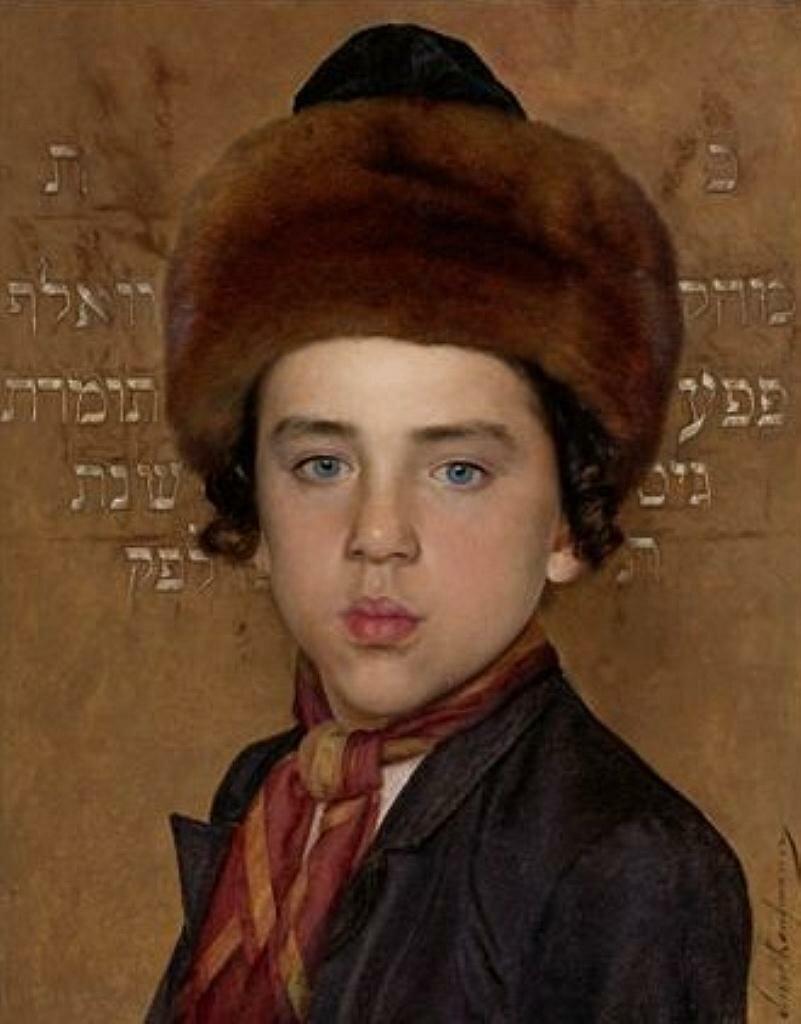 Портрет мальчика,Кауфман Исидор(1853–1921)