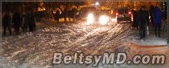 Бельцы в «снежном аду» — движение практически встало
