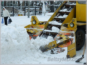 В Бельцах идут работы по уборке снега — создан штаб