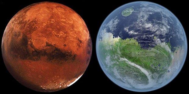 Как выглядел бы Марс, если на нем была жизнь