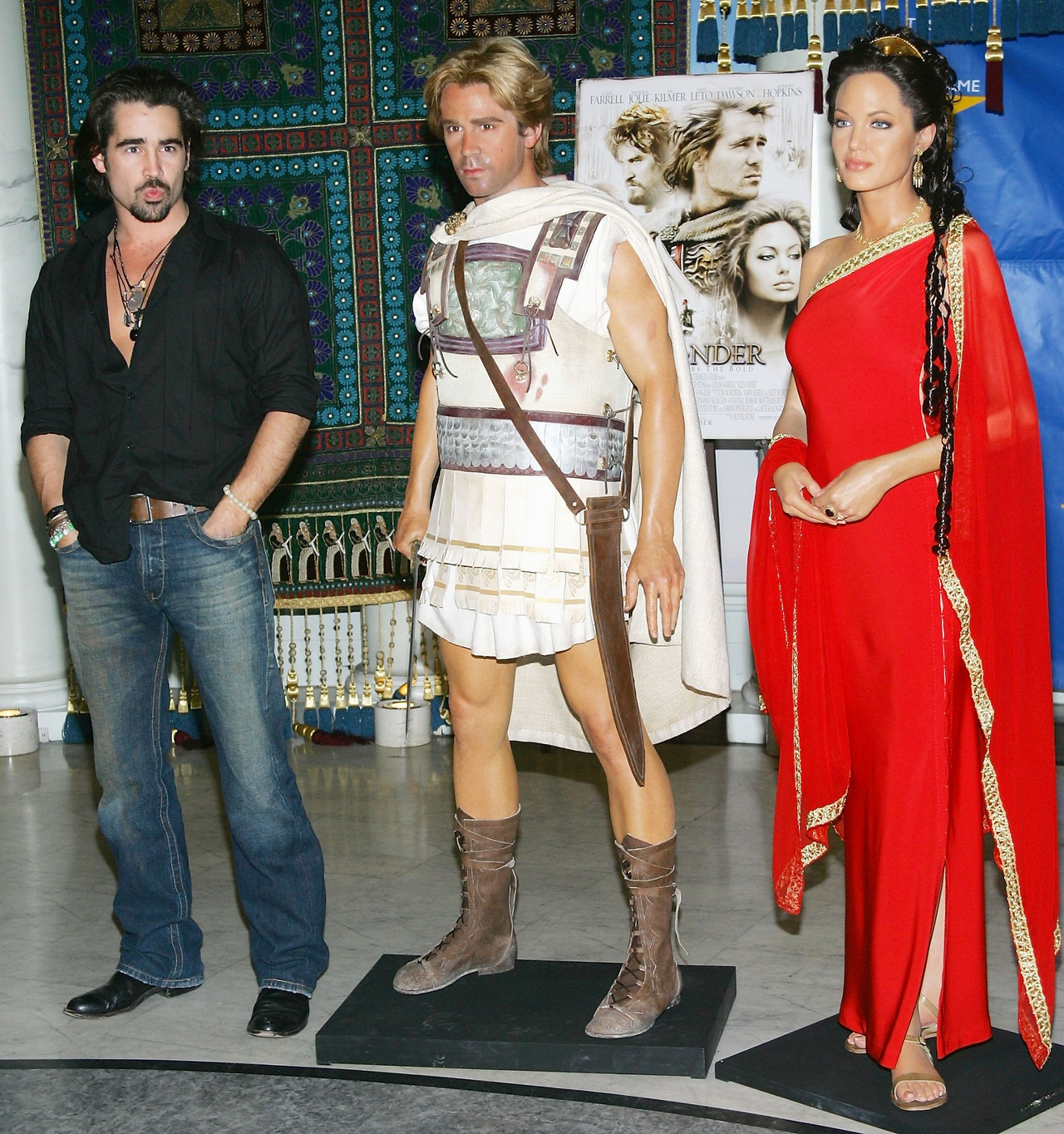Colin Farrell Launches 'Alexander The Great' Interactive Exhibit At Madame Tussauds