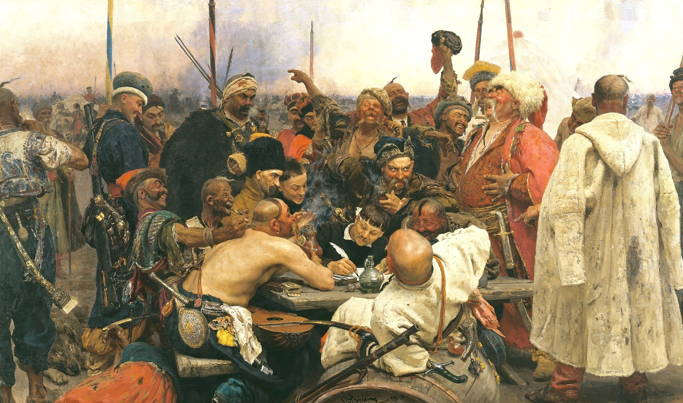 Казаки пишут турецкому князу фото 44-374