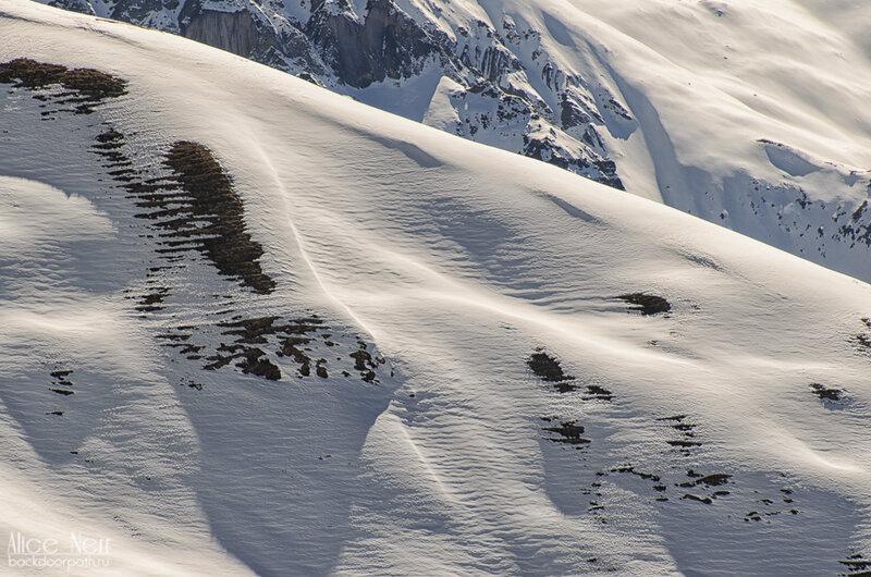 снег на гималайских склонах, горы, непал