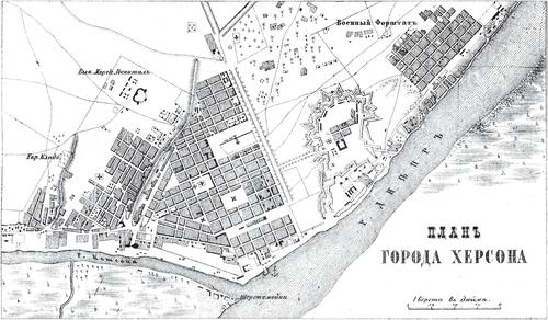 Генплан города Херсона на 1876 год