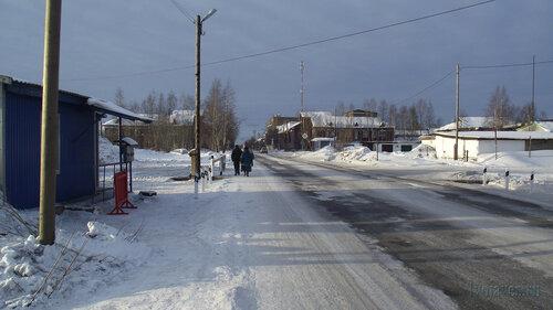 Фото города Инта №3162  Улица Индустриальная в восточном направлении, в районе входа на