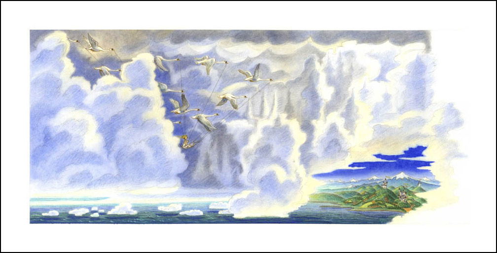 Les Cygnes Sauvages Illustrator Philippe Pauzin Book Graphics