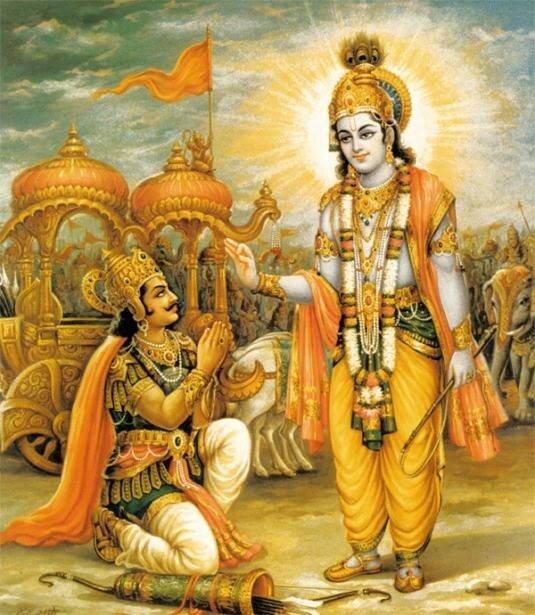 Шри Кришна и Арджуна