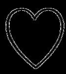сердца картинки черно-белые