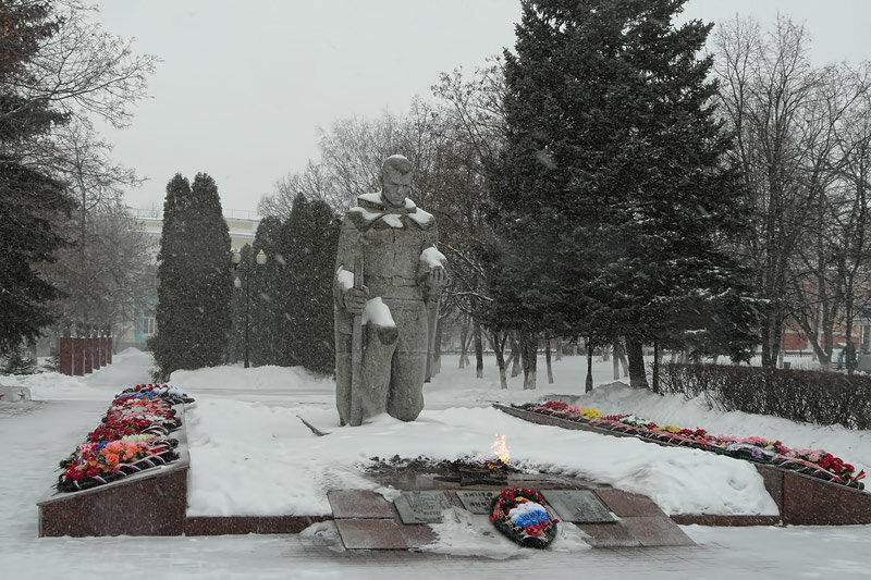 аллея памятников в г.Бирюч