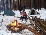 В лагере.