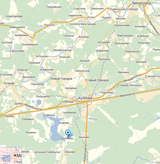 На Яндекс карте показано место