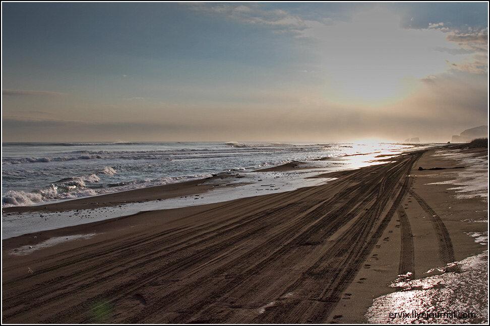 Пляж на Тихом океане. Камчатка