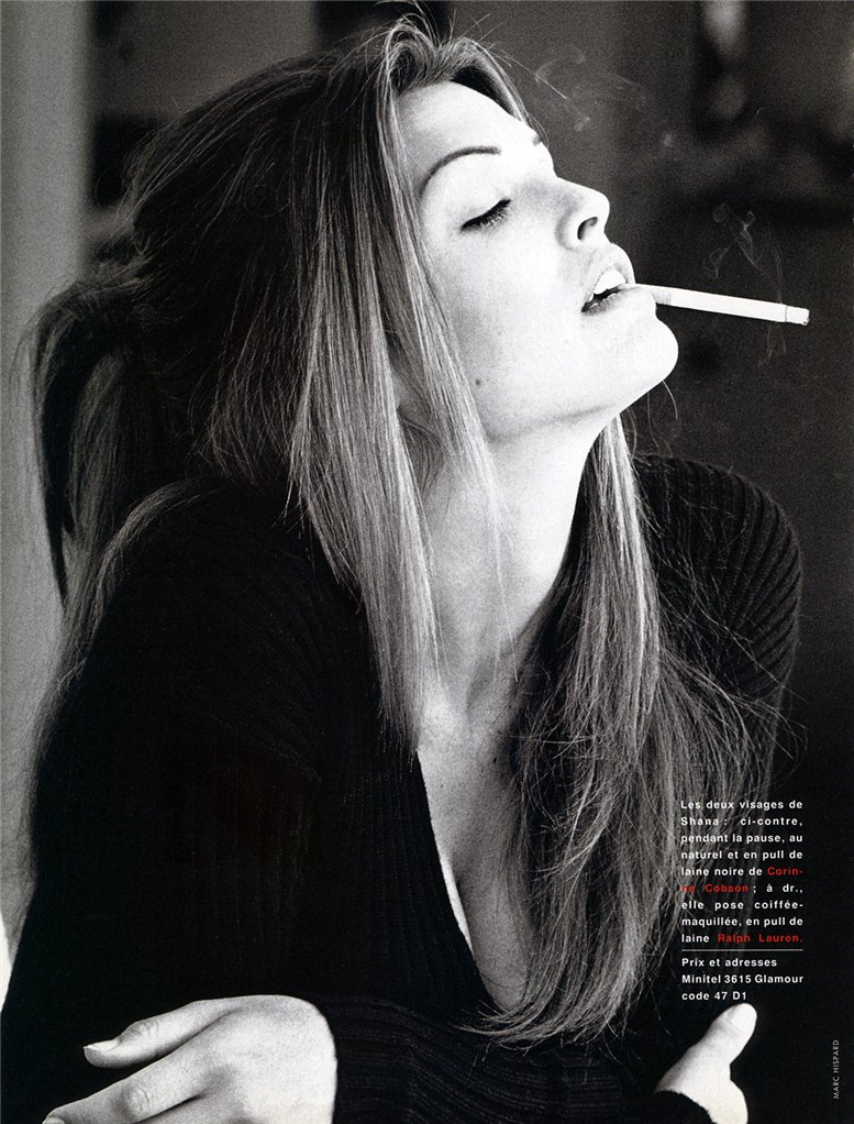 smoking Shana Zadrick / Шана Задрик с сигаретой