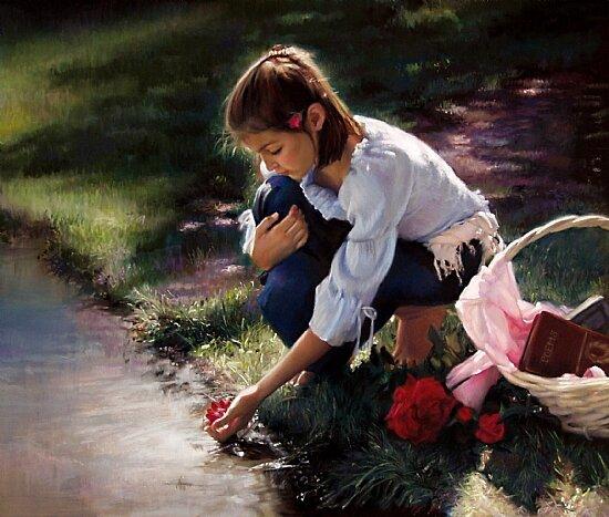 Я по рощице ходила...Реализм художницы Ardith Staros triinochka.ru