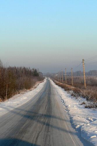 зимняя прогулка дорога