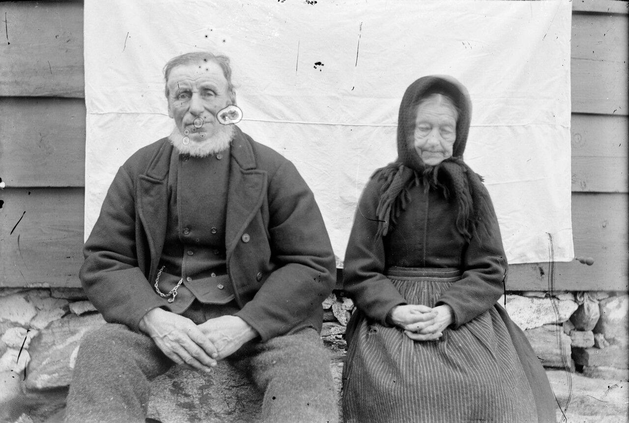 Старики с горной фермы в Западной Норвегии. 1910