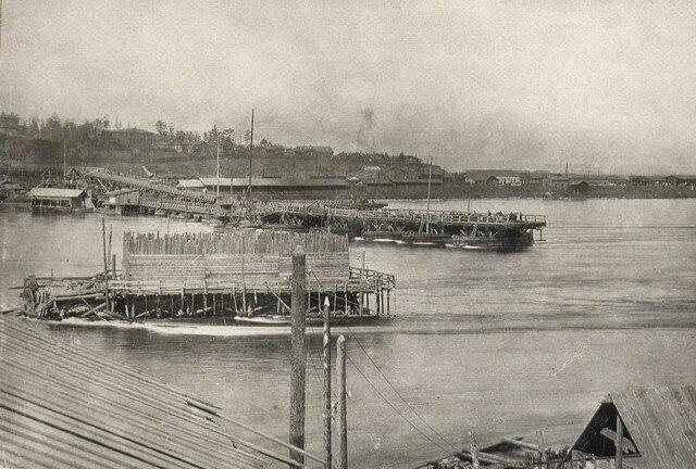 Кессон №3 построенный на ряже за два дня до аварии 4.9.1932.