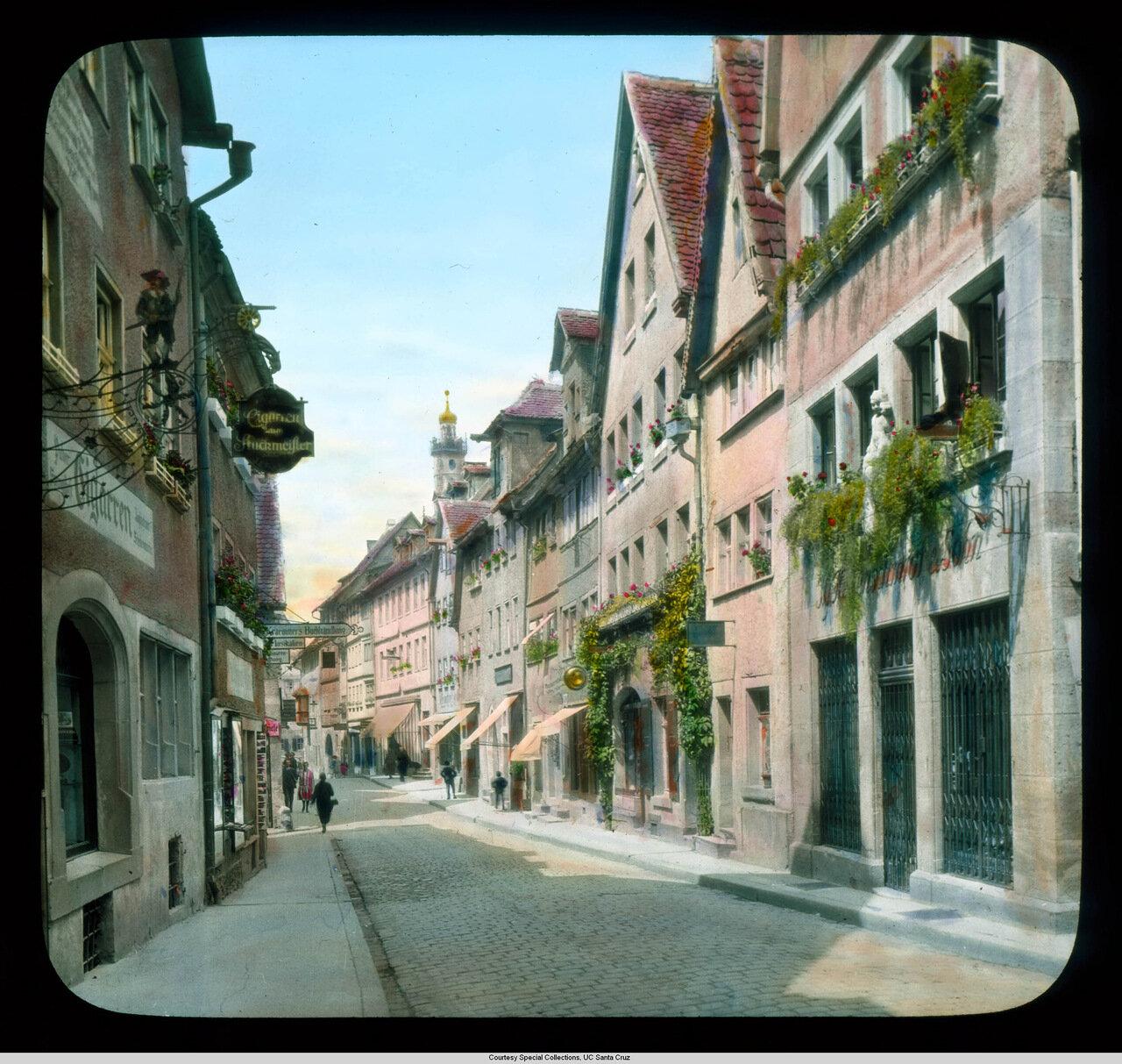 Ротенбург-на-Таубере. Альтштадт. Улица с лавками и жилыми домами