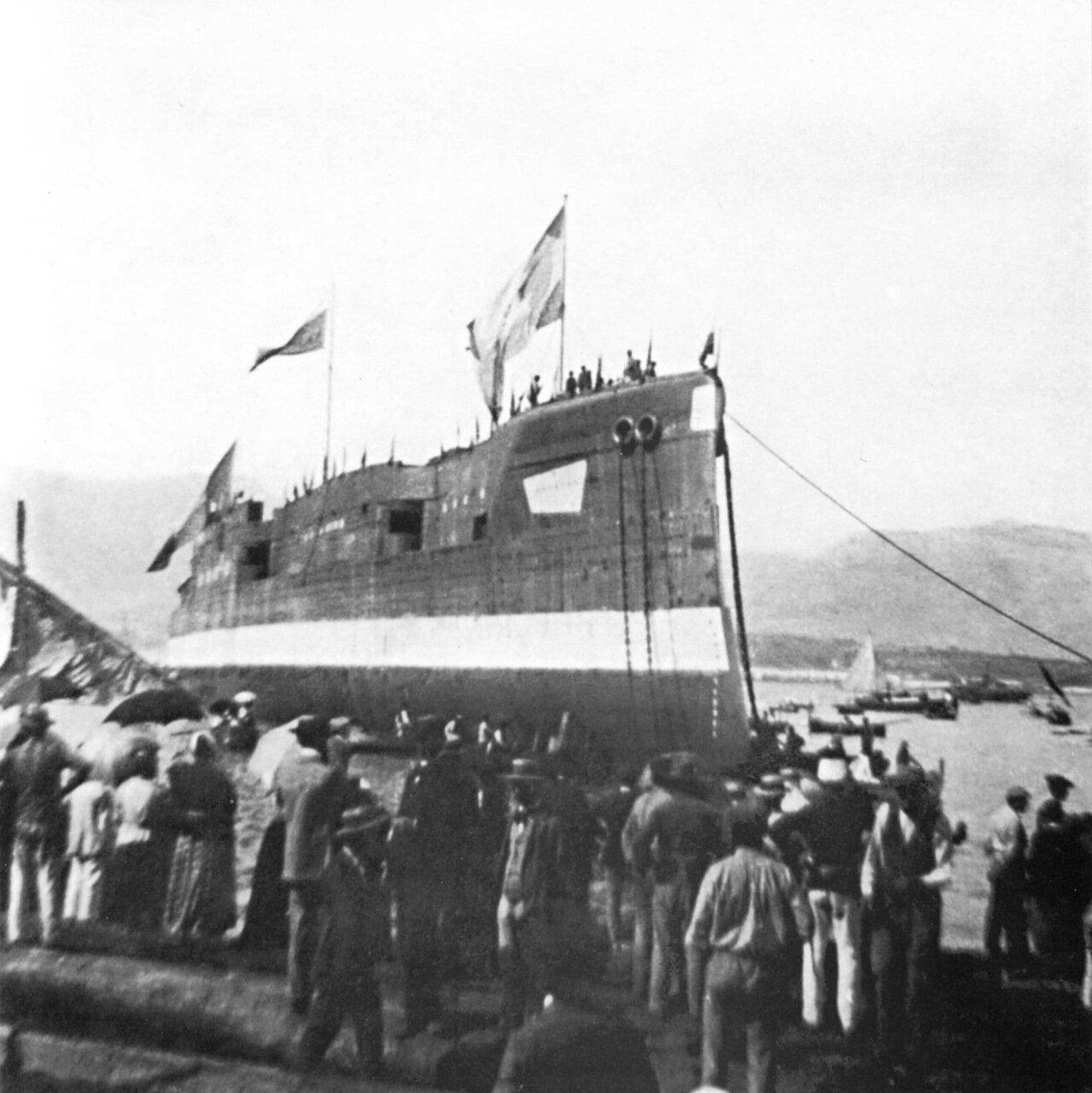 Спуск на воду броненосного крейсера Баян, 30 мая 1899 года.