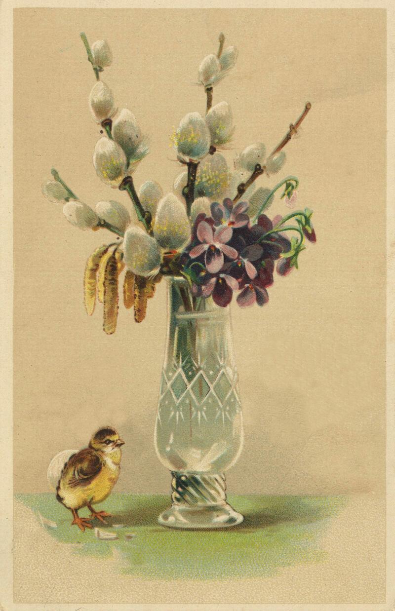 Застолья, стильные открытки с вербным воскресеньем