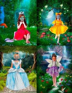 Шаблоны для фотошопа - Девочки из сказки 0_ca064_767a2242_M