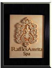 ОАЭ. Дубаи. Raffles Dubai. Raffles Amrita Spa Logo
