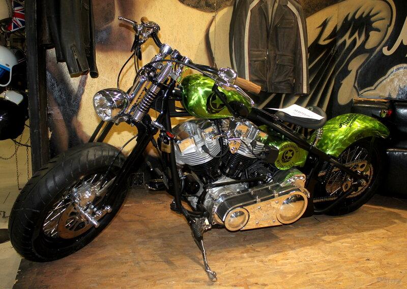 Эксклюзивный байк из Милана Headbanger Gypsy Soul «Green Metal»