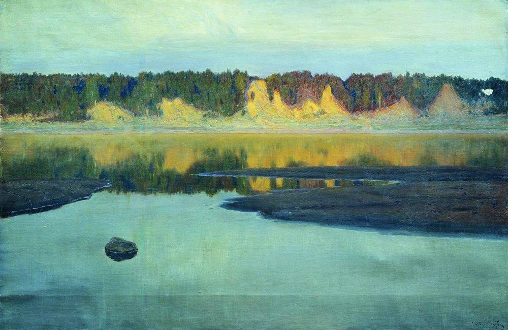 Река. Вечер. 1897.jpg