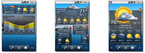 Скриншоты Palmary Weather Premium на странице приложения на сайте palmarysoft.com