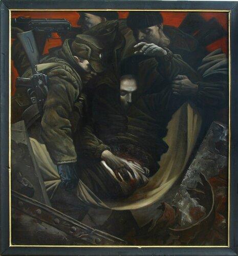 Игорь Кожевников Искусcтво на тему войны  Картина Солдаты это дипломная работа Академии художеств которая посвящена воинам отстаивавшим целостность и независимость России на Северном Кавказе