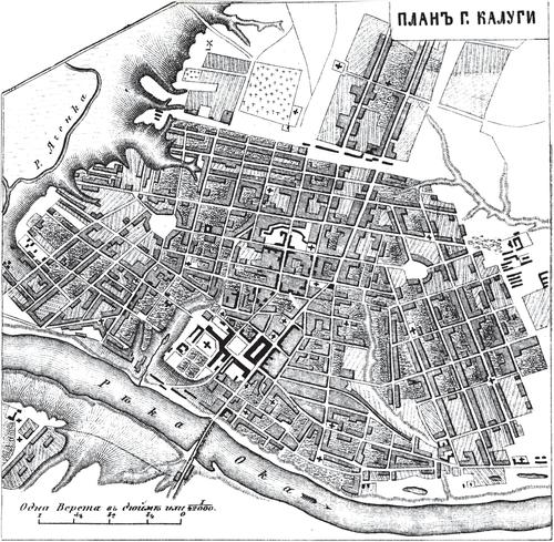 Генплан города Калуги на 1876 год