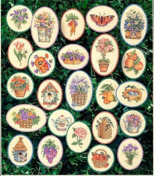 Цветочные миниатюры.Вышивка.