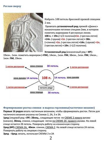 описание Пуловера по мотивам Кашарель, стр.2