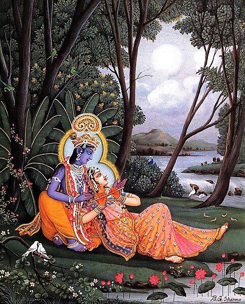 ИСКУССТВО ИНДИИ, Картины худ. Шарма РАДХА-КРИШНА (radha-krishna)
