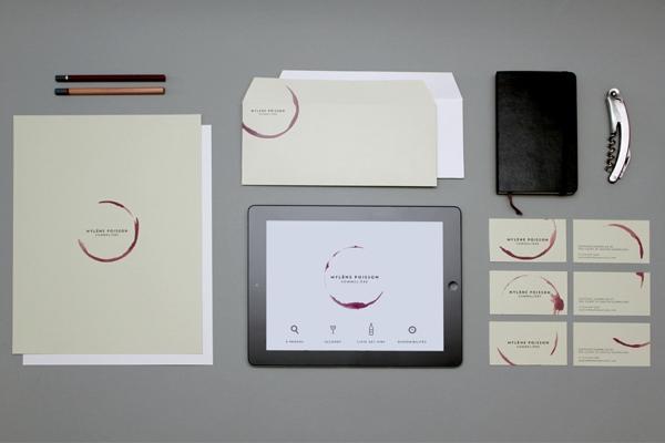 Студия графического дизайна Caserne. Креативные визитки для сомелье