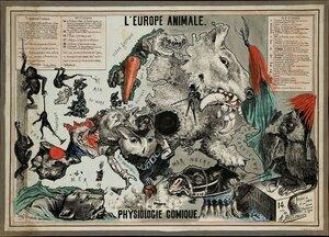 1882. «Европейские животные - сатирическая физиология», Брюссель