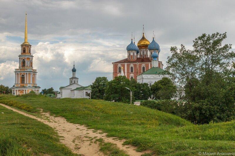 Рязанский кремль, вид с Кремлевского вала