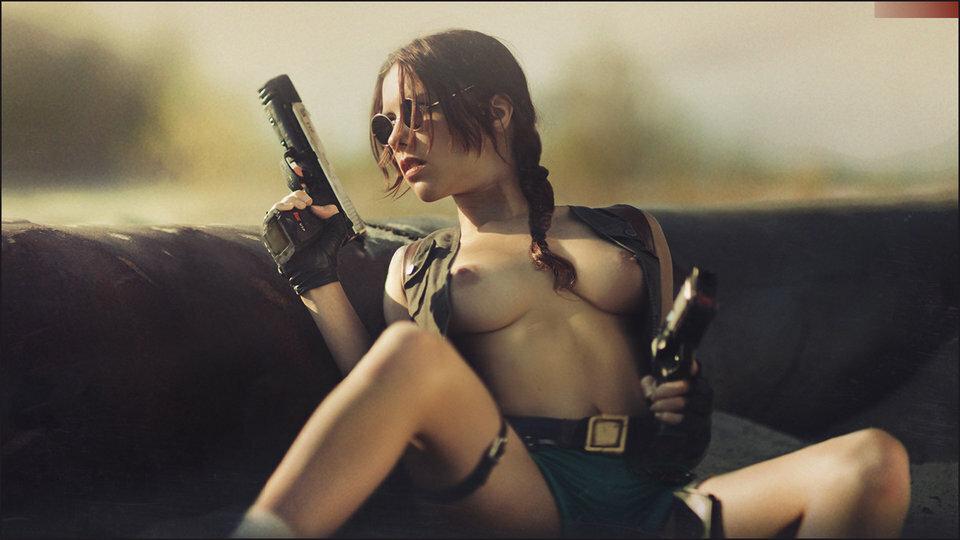 фото девушек с пистолетом эротические печных