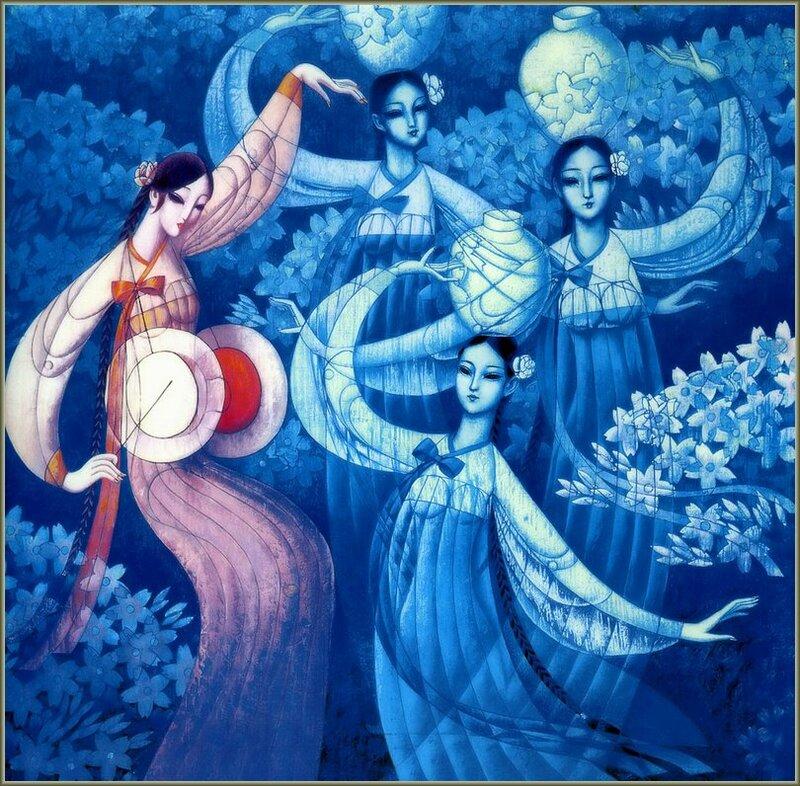 Только любовь, что нам дана, вечно не оставит нас.. Живопись китайского художника Cunde Wang