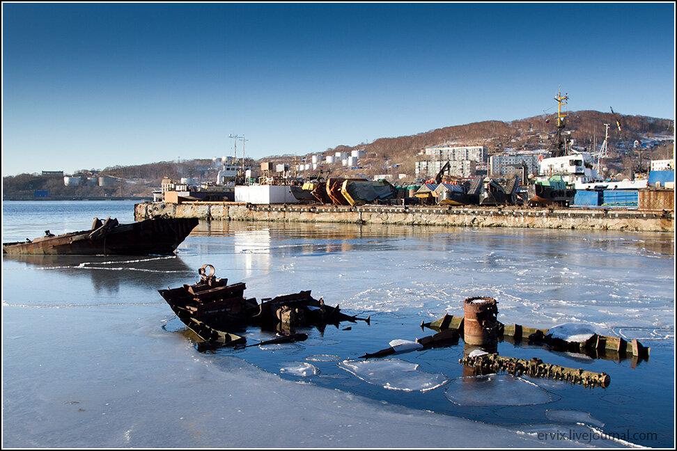 Затопленные корабли в Петропавловск-Камчатском