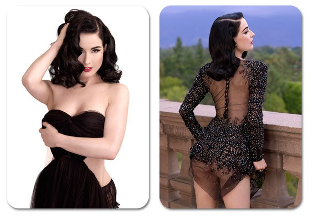 Dita von Teese / Дита фон Тиз в журнале ELLE Men China, декабрь 2012 / фотограф Albert Sanchez