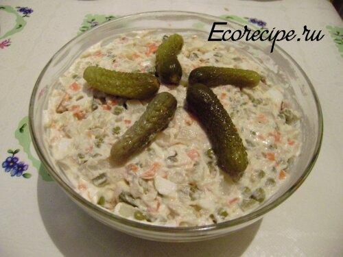 Готовый салат Оливье