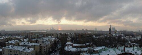 Панорама московского мрачного декабря