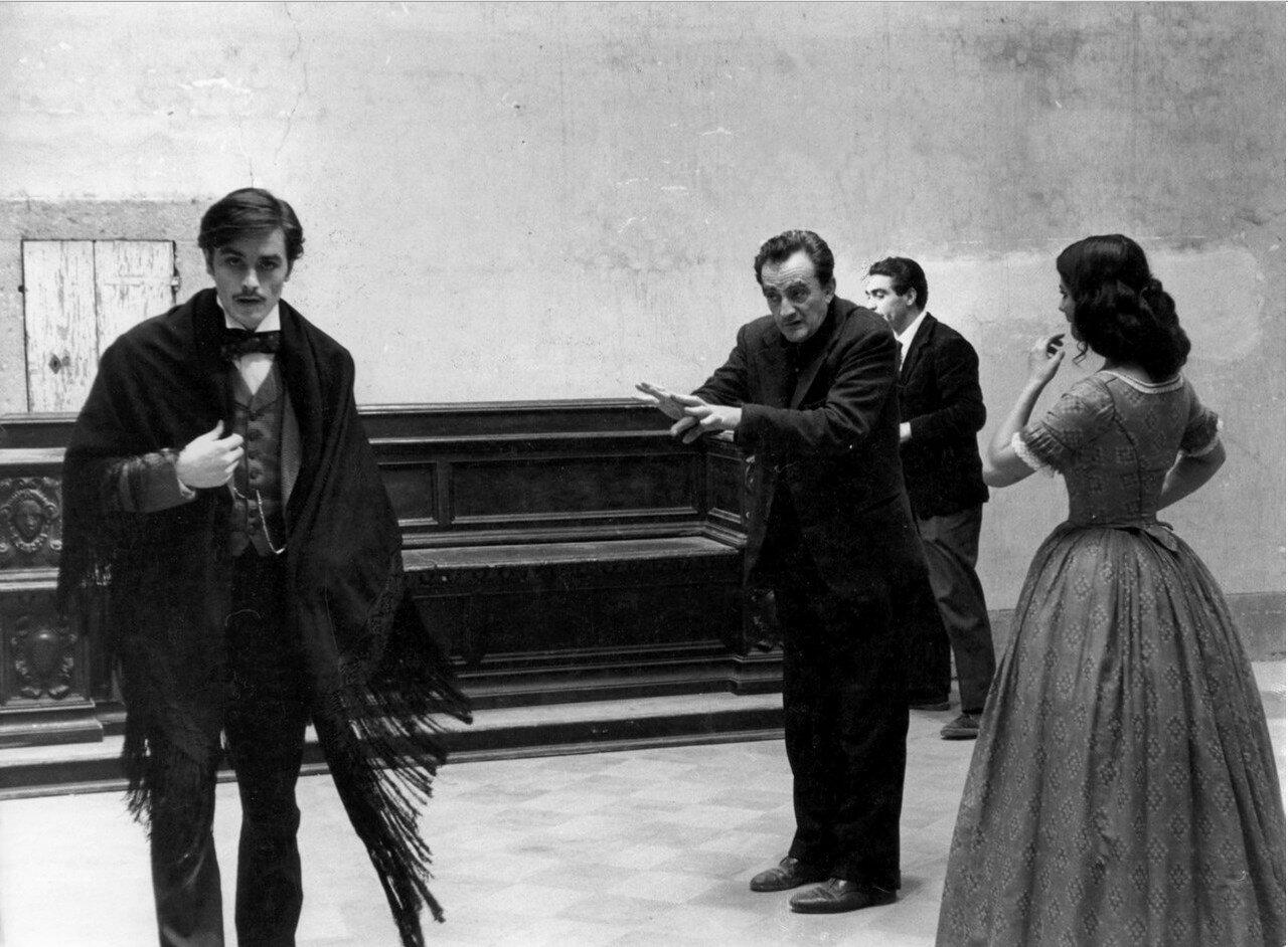 1962. На съемках «Леопарда» с Клаудия Кардинале и Лукино Висконти