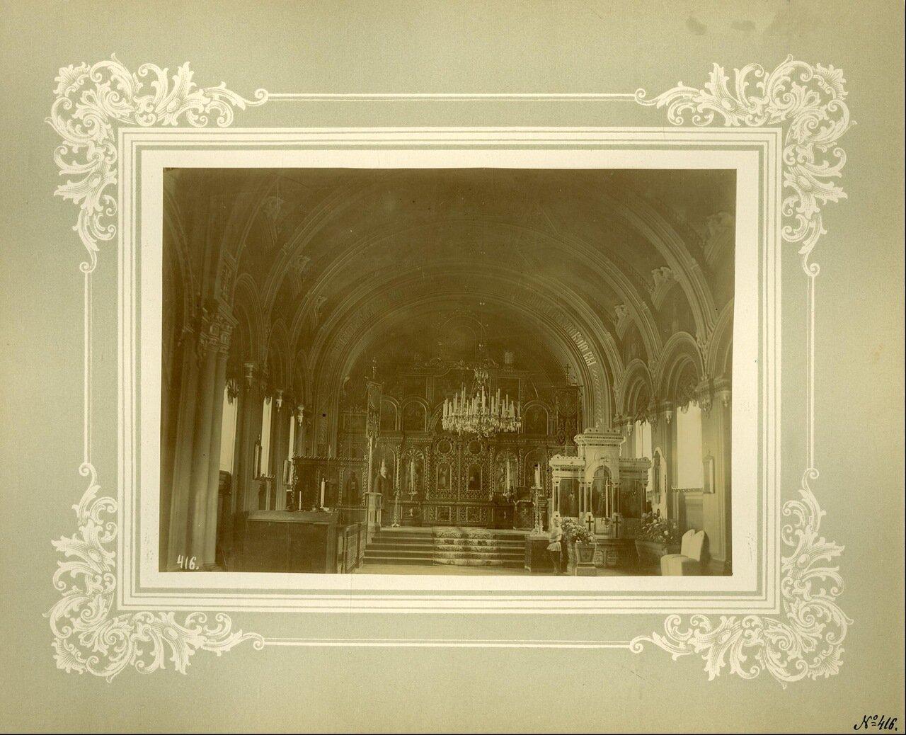Внутренний вид церкви Тихвинской иконы Божией Матери