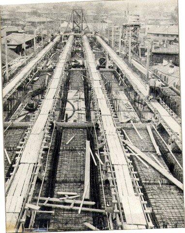 ………… етон..овке прол. строений правобережной эстакады. Июнь 1936г.