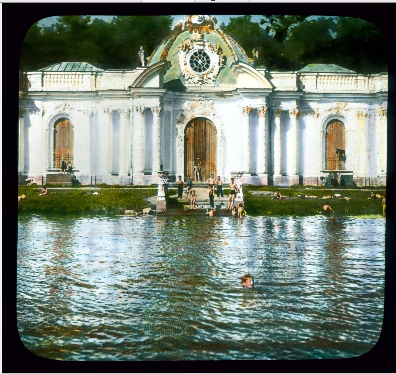 Пушкин (Царское Село). Екатерининский дворец с гротом-павильоном