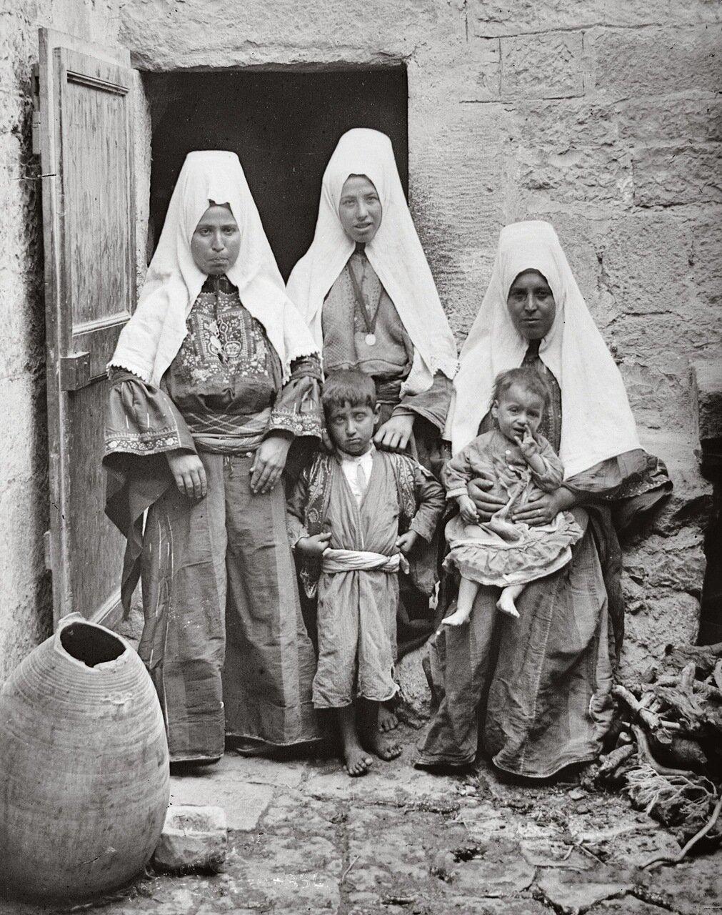 Жители Вифлеема, Палестина. 1900-1920